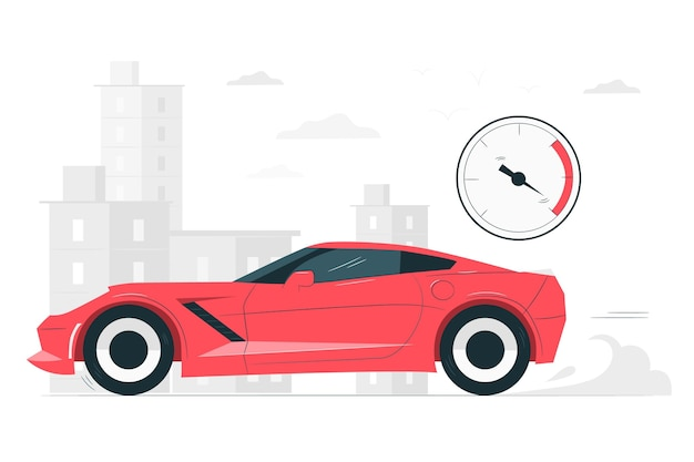 Snelle auto concept illustratie