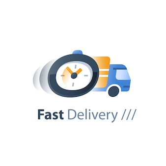 Snelle bezorgdiensten, logistiek bedrijf, wachttijd, ordervertraging