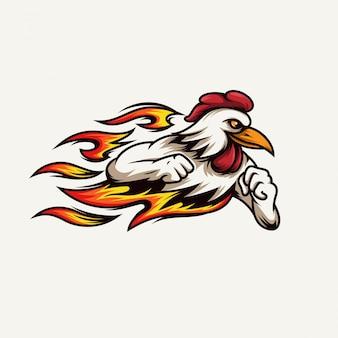 Snelle en hete kip