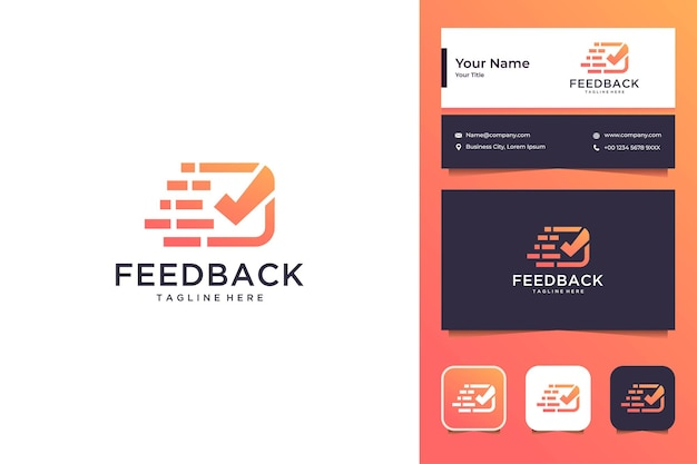 Snelle feedback stem modern logo-ontwerp en visitekaartje