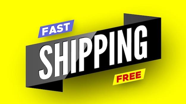Snelle gratis verzending banner