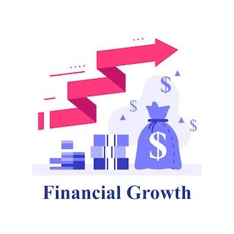 Snelle kapitaalgroei, fondsenwerving, rendement op investering, omzetstijging, financiële winst, meer geld verdienen, hoge rente, vermogensbeheer op de aandelenmarkt, handelsstrategie