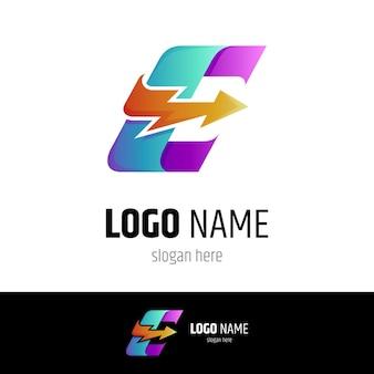 Snelle letter e logo concept