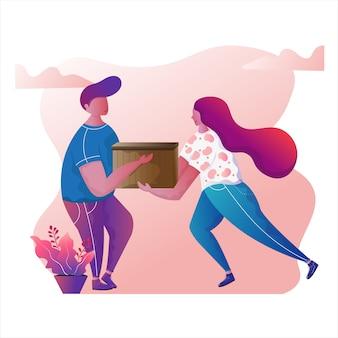 Snelle levering bestelling illustratie