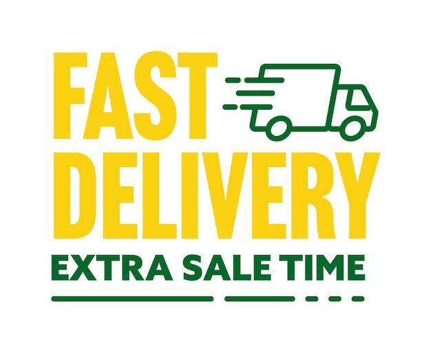 Snelle levering en extra sale speciale aanbieding sticker. korting tijd advertentie label met geweldige bonus en cadeau vectorillustratie geïsoleerd op een witte achtergrond