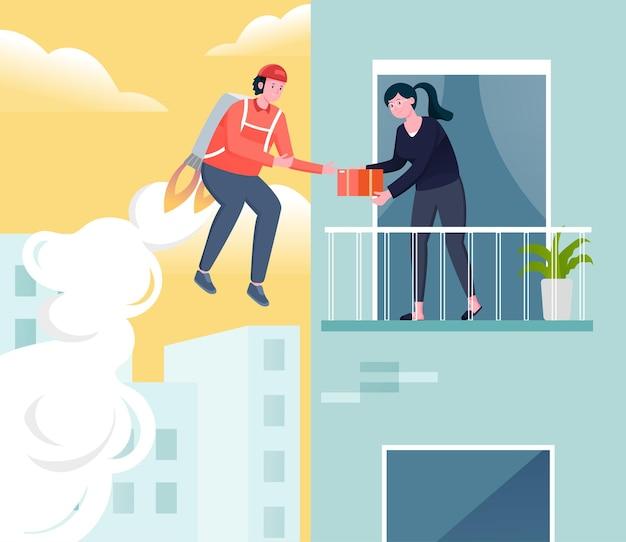 Snelle levering service illustratie concept