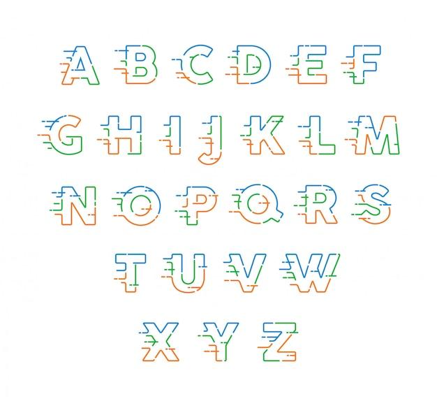 Snelle lijnen alfabet