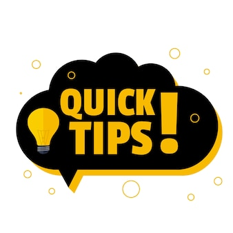 Snelle tips achtergrond met chat-bubble-stijl