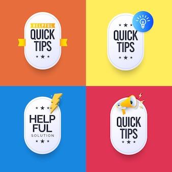 Snelle tips oplossing ontwerpsjabloon