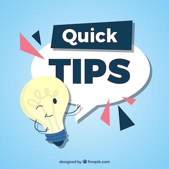 Snelle tips samenstelling met gloeilamp