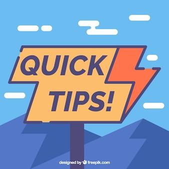 Snelle tips samenstelling met plat ontwerp