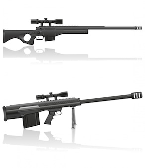 Sniper rifle vectorillustratie