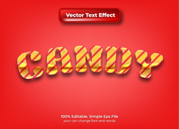 Snoep 3d bewerkbaar teksteffect