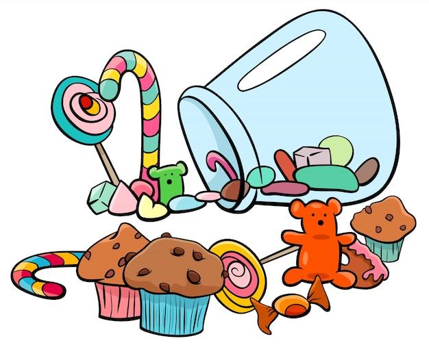 Snoep groep cartoon afbeelding