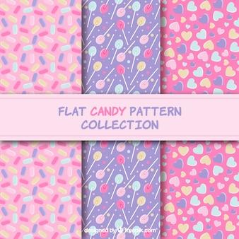 Snoep patronen collectie met verschillende kleuren
