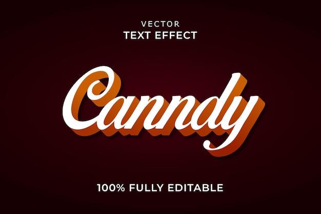 Snoep teksteffect