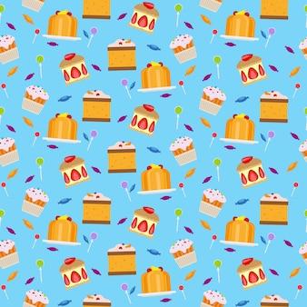 Snoepjes en snoepjes naadloos patroon