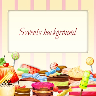Snoepjes voedsel achtergrond