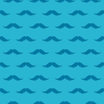 Snor naadloos patroon. nationale prostaatkanker awareness month achtergrond.