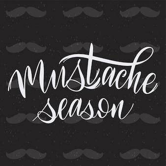 Snor seizoen. movember zinnen. promotie en motivatie citaten. belettering typografie
