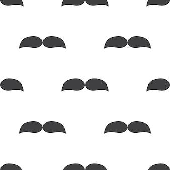 Snor, vector naadloos patroon, bewerkbaar kan worden gebruikt voor webpagina-achtergronden, opvulpatronen