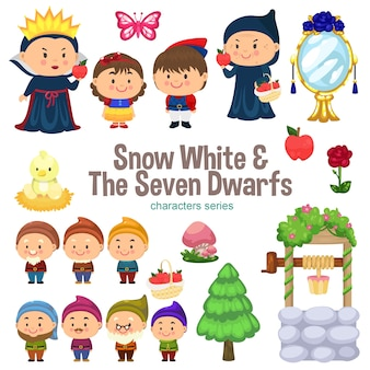 Snow white en the seven dwarfs character series