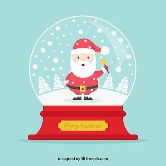 Snowball achtergrond met kerstman