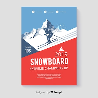 Snowboard banner
