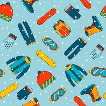 Snowboard elementen patroon ontwerp