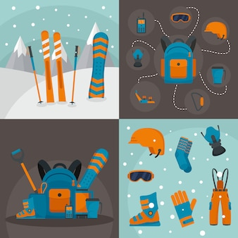 Snowboarden kit