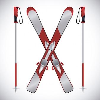 Snowboarding ontwerp, vectorillustratie.