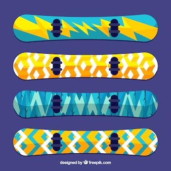 Snowboards in modern design