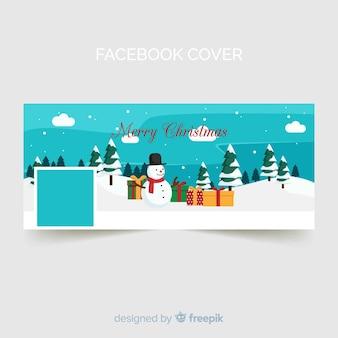 Snowman christmas facebook cover