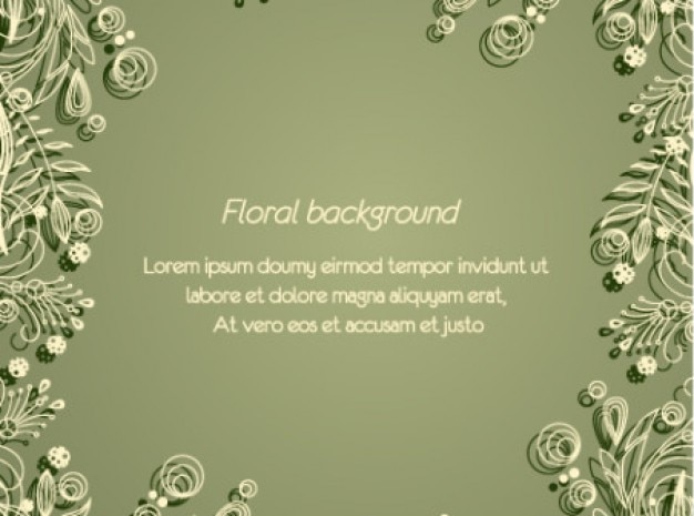 Sobere minimale floral groene achtergrond
