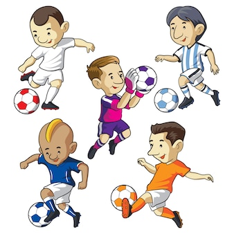 Soccer kids cartoon