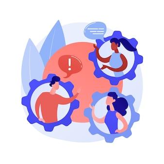 Sociaal gedrag abstract concept vectorillustratie. antisociaal gedrag, jeugdmishandeling, bendegevechten, rellen, alcohol drinken, onrustige tiener, pesten, huiselijk geweld abstracte metafoor.