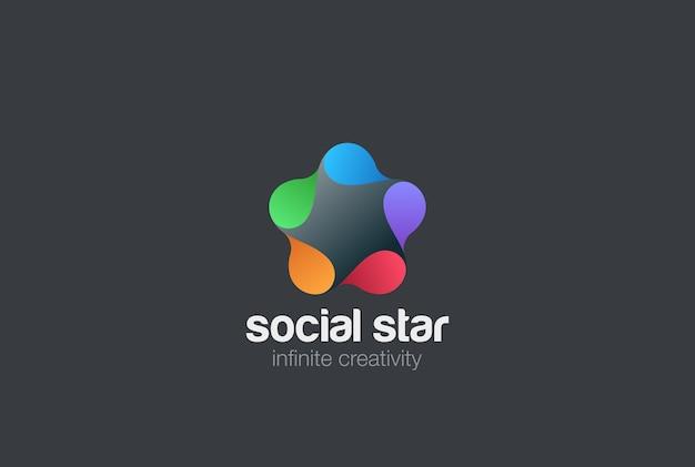 Sociaal logo pictogram.