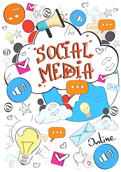 Sociaal media communicatieconcept