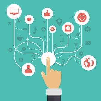 Sociaal netwerk communicatie