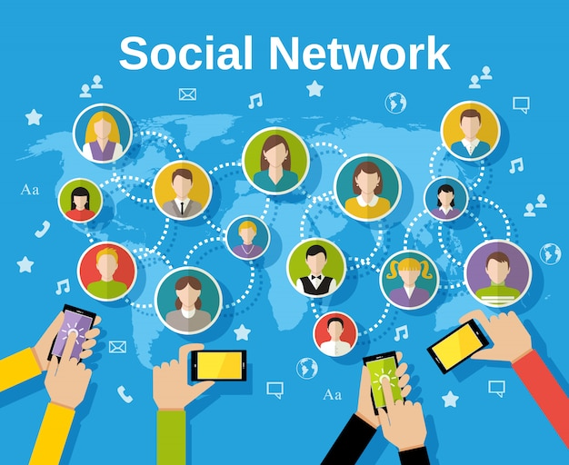 Sociaal netwerk concept
