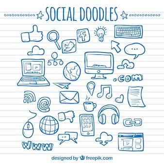 Sociaal netwerk doodles