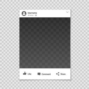 Sociaal netwerk fotolijst