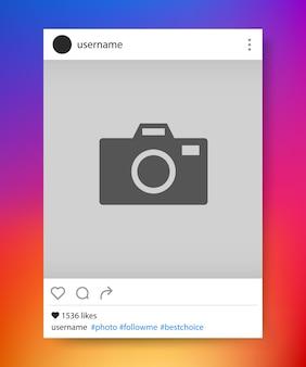 Sociaal netwerk fotolijstjes. instagram. vector illustratie