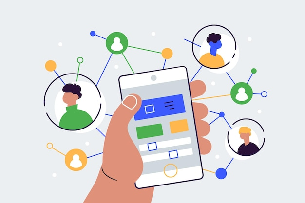 Sociaal netwerk illustratie