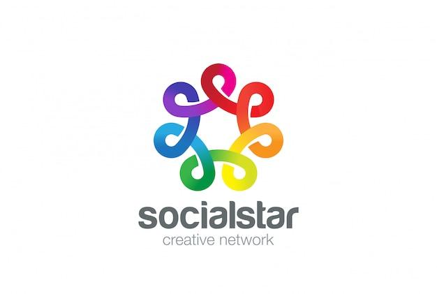 Sociaal netwerk logo