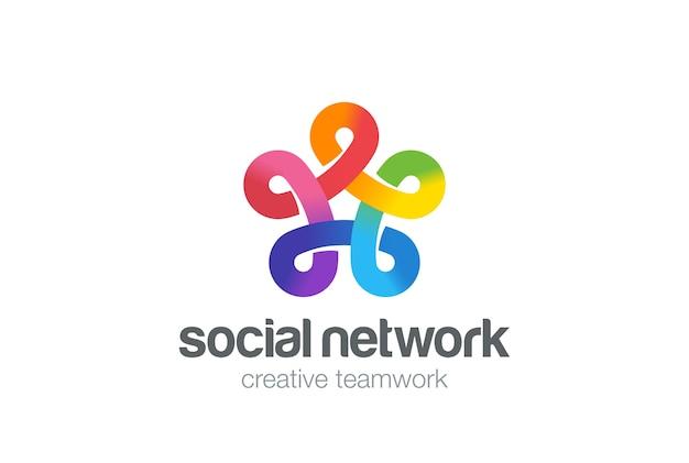Sociaal netwerk logo.