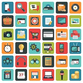 Sociaal netwerk pictogrammen