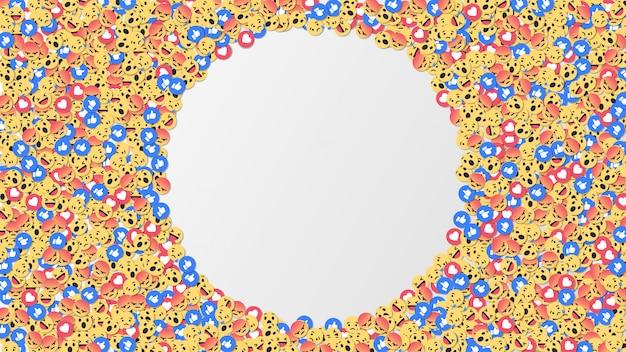 Sociaal netwerk reacties pictogramachtergrond