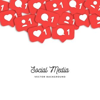 Sociaal netwerk tellers pictogrammen achtergrond