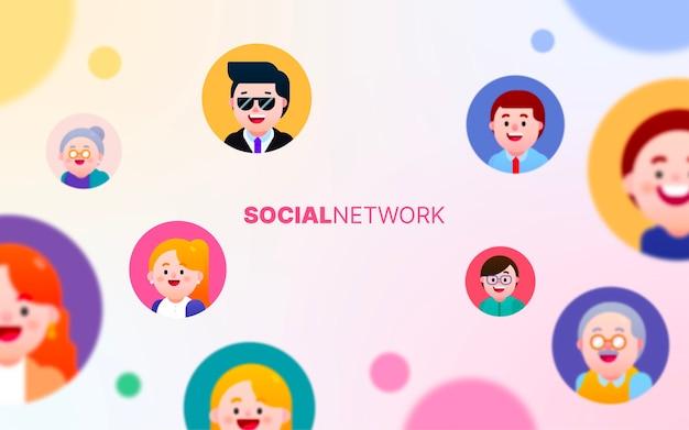 Sociaal netwerk verbindt mensen met elkaar